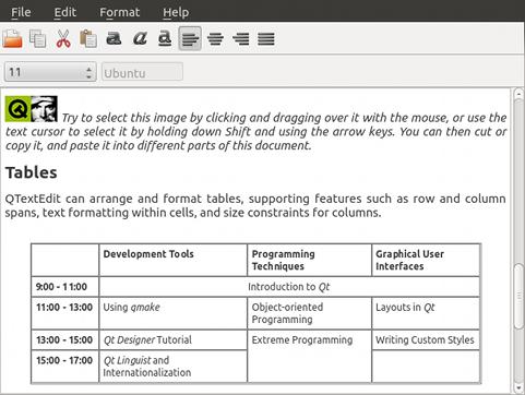 Qt Quick Controls - Text Editor Example